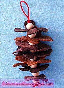 Dovolenka remesiel How-to: Felt Pinecone Ornament