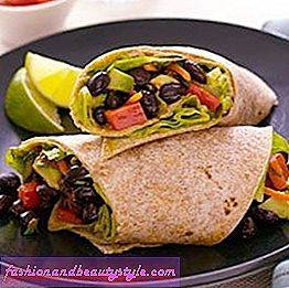 Avocado-Bean Wrap