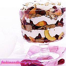 Raspberry-Peach Trifle Recept
